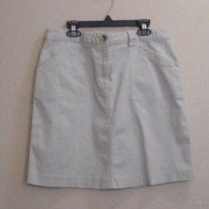 Geoffrey Beene Stretch khaki mini skirt